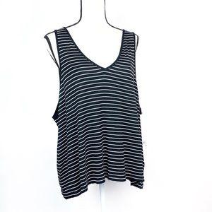 BP Black White Striped Tank Top
